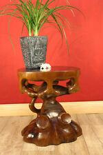 Teak Beistelltisch Tisch Podest Blumensäule Edelholz Massivholz Baum geschnitzt