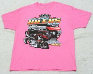 New Hanes Tagless Pink T-Shirt Tee Short Sleeve Crewneck XL Twin City Car Show