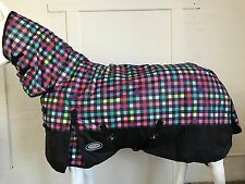 AXIOM 600D RIPSTOP FANCY SQUARE/BLACK LIGHT MESH HORSE COMBO RUG - 5' 9