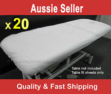 20Pc Disposable Massage Table Beauty Bed Cover Fitted Sheets Water Oil Proof