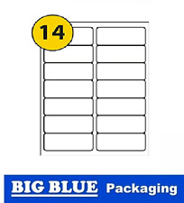A4 ADHESIVE COPIER LABELS 14 per page laser inkjet printer sticky 100 pages box