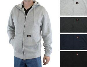 Dickies Men's Midweight Hoodie Full Zip Work Outerwear Fleece Hooded Jacket