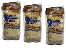 3 Bags of Blue Ribbon Whole Grain Brown Rice 3 x 2 Pounds NON GMO, Gluten Free
