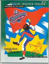 1995 ALCS Program CLEVELAND INDIANS at SEATTLE MARINERS Kingdome SUPER CLEAN!