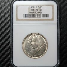 1938 S Arkansas Commemorative Half Dollar NGC MS64 (80008)