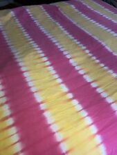 Pottery Barn Teen Reef Tie Dye Duvet Twin Yellow  Pink