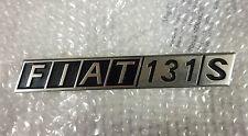 """SCRITTA POSTERIORE """"FIAT 131 S""""AUTO D'EPOCA"""