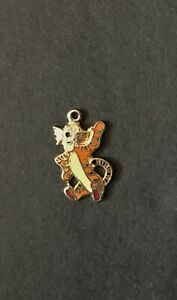 Tigger Black Nose Vintage Charm 1970's Enamel Gold Disney Jewelry Winnie Pooh