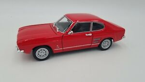 Welly - 1:24 Scale - 1969 Ford Capri XLR 1600 GT - Red - No.24069 - Mint!!