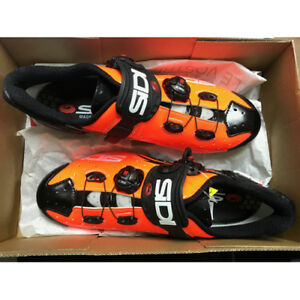 New SIDI WIRE Carbon Road Bike Cycling Shoes Orange Black US Warehouse