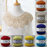 50g Lace Cotton Wool Yarns Hand Knitting Crochet Embroidery DIY Threads 2 Ply