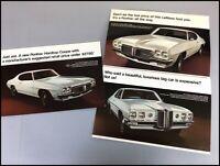 1970 Pontiac Tempest LeMans Catalina Original Vintage Sales Brochure