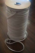 Flat Elastic 1/4 inch Knits for face mask choose yards in white width mask soft
