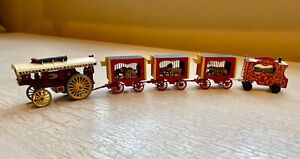 Vintage HO Lesney's Modern Amusements with hand-made painted circus wagons