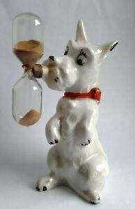 Large Antique Novelty Dog Porcelain Egg Timer