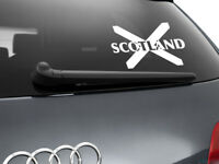 Scotland Flag Car Sticker Styling Decal Scottish Flag, White