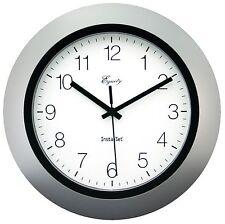 "40222S Equity by La Crosse Insta-Set 10"" Analog Wall Clock - Silver"