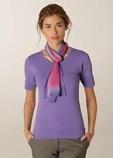 ladies palette chiffon scarf uniform smart wear wab122 lilac & fuchsia