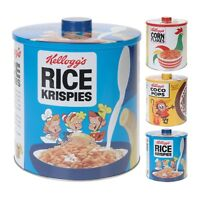 Kitchen Storage Tin Retro Cereal Box Tea Coffee Sugar Jar Kelloggs 17x20cm