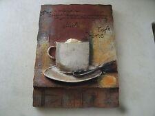 1#E  S Vassileva Mocha Creme Cafe' 3D Resin Wall Hanging