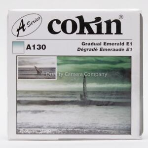 "COKIN ""A"" SERIES GRADUAL EMERALD E1 A130 - GRADUATED LIGHT EMERALD FILTER - NOS"