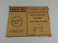 White Ace United Nations Marginal Inscriptions ?-Date Stamp Album Pages Part