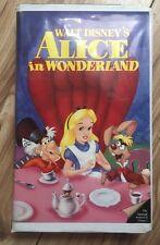 Disney The Classics Black Diamond Alice In Wonderland Vhs Fast Free Post NTSC