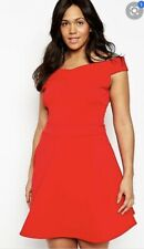 Praslin Size 16 Stunning Red Dress Can Be Worn Off Shoulder Stretch Party Xmas