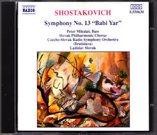 SHOSTAKOVICH Symphony No.13 Babi Yar LADISLAV SLOVAK CD Schostakowitsch Mikulas