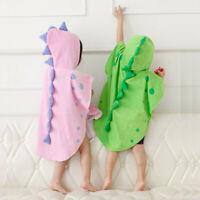 Toddler Kids Baby Boys Girls Animal Bathrobe Hooded Bath Towel Wrap Bathing Robe