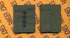 US ARMY General GEN 0-10 OD Green & Black slip on rank patch