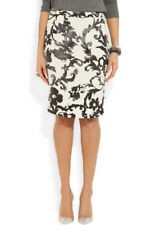 MOSCHINO CHEAP & CHIC cream & black floral print pencil skirt UK 6 New £140