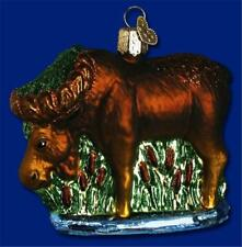 MUNCHING MOOSE OLD WORLD CHRISTMAS BLOWN GLASS ANIMAL WILDLIFE ORNAMENT 12135