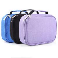 d20e38b2490ded 72 Slot Student Fabric Pen Bag Pencil Case Pouch Box Women Cosmetic Brush  Holder