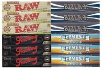 RIZLA KINGSIZE ROLLING PAPERS MICRON + ELEMENTS + RAW ORGANIC KING SIZE