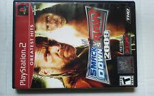 WWE SmackDown vs Raw 2009 Sony PlayStation 2 PS2 w/ No Manual
