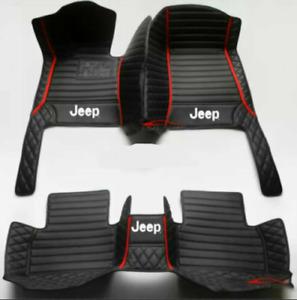 For Car Floor Mat JEEP Wrangler 2door/4doors 2010-2021 front and rear waterproof