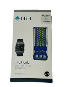 FitBit Ionic Sport Band Only Unisex adult Large Blue Yellow Breathable Design