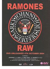 RAMONES Raw DVD release UK magazine ADVERT / mini Poster 11x8""