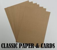 A4 / A5 QUALITY ECO 100% RECYCLED BROWN 280GSM KRAFT CARD-FOR CRAFT/WEDDINGS