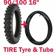 """16"""" Inch Knobby Rear Tyre With Tube, 90/100-16 Tire, Dirt/Pit bike,Pro Bike,MX"""