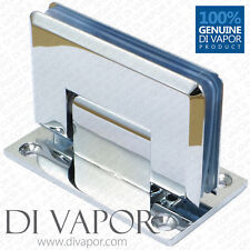 Di Vapor (R) 90 Degree Wall Mounted Shower Door Glass Hinge | Chrome Plated | UK