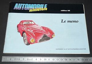MEMO 1988 AUTOMOBILE MINIATURE MARQUES CLUBS ADRESSES PUBS DINKY TOYS 1953