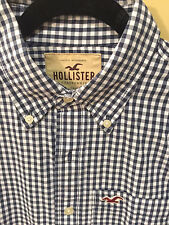 Hollister by Abercrombie  mens Blue & White Check M NWOT button-down was $49.50