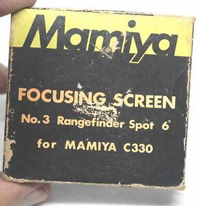 Mamiya Focusing Screen for C330, No. 3 Rangefinder spot 6
