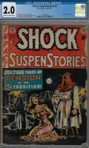 SHOCK SUSPENSTORIES CGC 2.0 #6-CLASSIC BONDAGE COVER-WALLY WOOD RC-1952