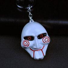SAW Jigsaw Flesh Collectors Metal Mask Keychain Halloween Horror Film Keyring