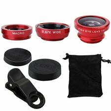 Fish Eye + Wide Angle + Micro Lens Camera Universal For iPhone XR 8 7 6s 5se 4