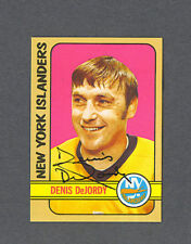 Denis Dejordy signed N.Y. Islanders 1972-73 Topps card