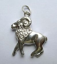 Sterling Silver Aries the Ram Zodiac Starsign Pendant
